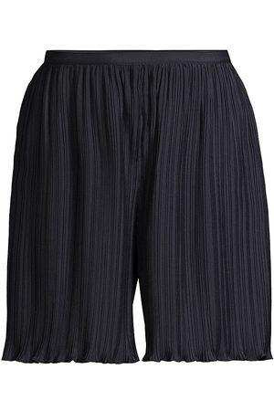 REBECCA TAYLOR Women's Plissé Pleat Shorts - Prussian - Size 12