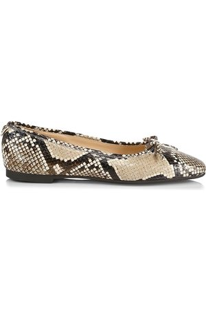 Jimmy Choo Women Ballerinas - Women's Shay Snakeskin Ballet Flats - Natural - Size 11