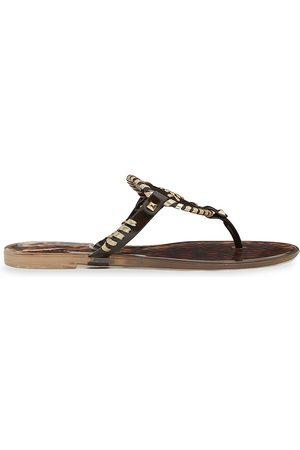 Jack Rogers Women Sandals - Women's Georgica Jelly Thong Sandals - Dark - Size 8