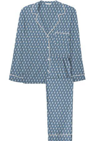 Eberjey Women Pajamas - Women's Sleep Chic 2-Piece Pajama Set - Daisy Shadow - Size XS