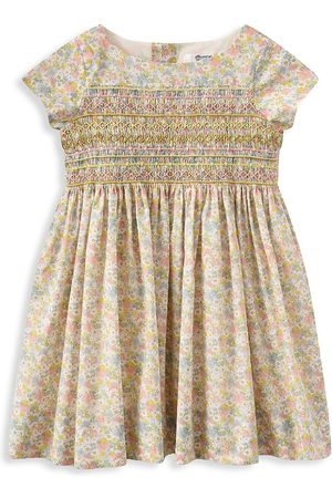 BONPOINT Girls Printed Dresses - Little Girl's & Girl's Smocked Floral Dress - Size 4