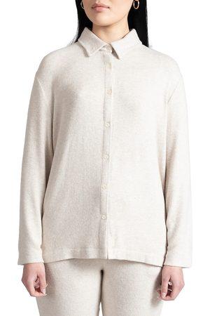 Leset Women Shirts - Women's Lori Button-Up Shirt - Melange - Size XL
