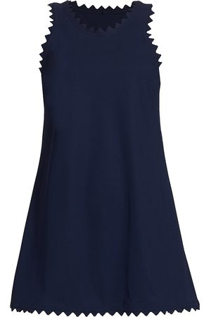 Karla Colletto Women Dresses - Women's Ines Scalloped A-Line Dress - Navy - Size Small