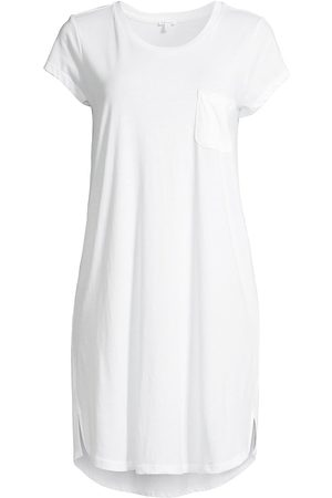SKIN Women Nightdresses & Shirts - Women's Carissa Patch-Pocket Sleep Shirt - - Size Medium