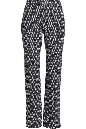 NIC+ZOE Women's High-Rise Knit Pants - Indigo Multi - Size Small