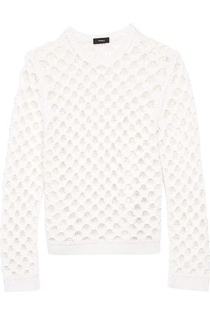 THEORY Women's Overlay Mesh Pullover - - Size Large