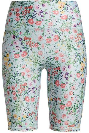 ALICE+OLIVIA Women's Aaron High-Rise Biker Shorts - Floral - Size XS