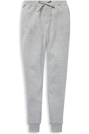 Ralph Lauren Girls Leggings - Little Girl's & Girl's Terry Fleece Leggings - Light Grey Heather - Size 6