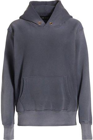 Les Tien Women's Fleece Hoodie - Navy Iced Wash - Size Medium