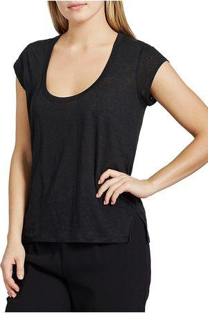 Joie Women's Evalina Linen T-Shirt - Caviar - Size XXS
