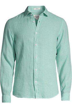 Hartford Men's Sammy Slim-Fit Linen Shirt - Bright - Size Large