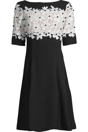 Shani Women Evening dresses - Women's Lace Fit & Flare Crepe A-Line Dress - - Size 2