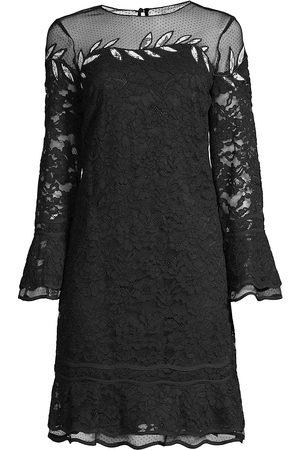 Shani Women Evening dresses - Women's Embroidered Lace Shift Dress - - Size 6