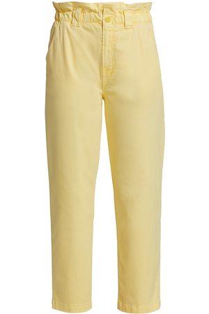Mother Women Pants - Women's The Yoyo Ruffle Ankle Pants - Finch - Size 29