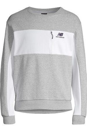 New Balance Men's Grey Day Fleece Crewneck - Grey - Size Medium