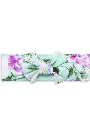 Posh Peanut Baby Girl's Erin Floral Headwrap - Strawberry - Size Newborn