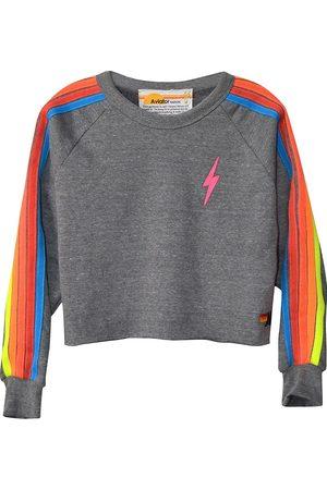 AVIATOR NATION Women's Bolt Cropped Classic Sweatshirt - Heather Neon - Size XS