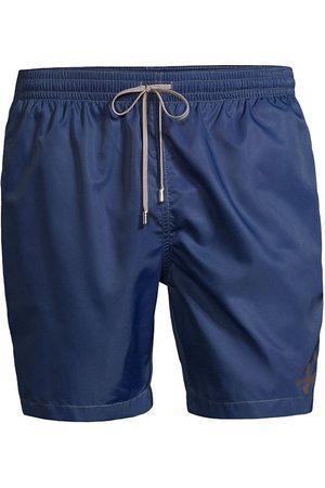 corneliani Men Swim Shorts - Men's Solid Swim Trunks - Navy - Size 48