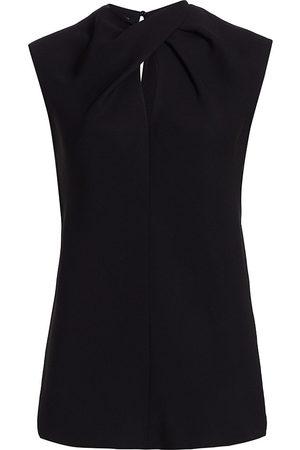 ST. JOHN Women Blouses - Women's Heavy Georgette Draped Blouse - - Size Medium