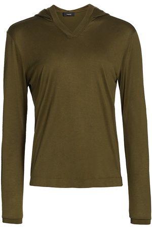 THEORY Women Hoodies - Women's Easy Rib Knit Hoodie - Bonsai - Size Medium