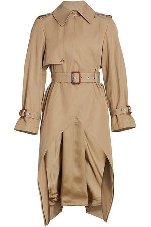 Alexander McQueen Women Trench Coats - Women's Frock High-Low Trench Coat - - Size 0