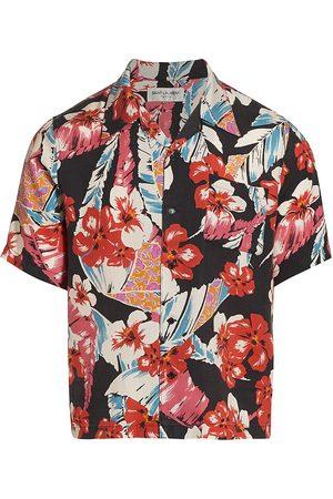 Saint Laurent Men Short sleeves - Men's Short-Sleeve Hawaiian Shirt - Colorful Flowers - Size XXL