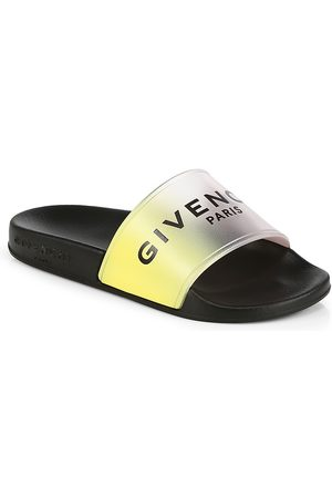 Givenchy Sandals - Little Kid's & Kid's Logo Pool Slides - Iridescent - Size 11 (Child)