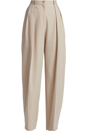 The Row Men Pants - Men's Igor Washed Cotton Trousers - Oatmeal - Size 12