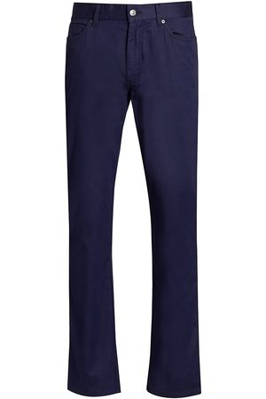 Ermenegildo Zegna Women's Five-Pocket Cotton Stretch Trousers - Navy - Size 31
