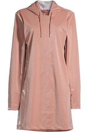 Rains Women's A-Line Waterproof Jacket - Blush - Size Large