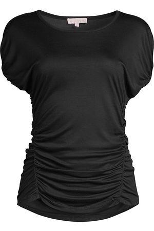 REBECCA TAYLOR Women Nightdresses & Shirts - Women's Tiny Ruched T-Shirt - Night - Size XL