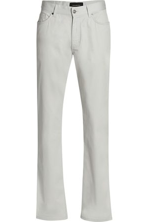 Ermenegildo Zegna Women's Five-Pocket Cotton Stretch Trousers - Stone - Size 36