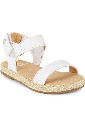 UGG Sandals - Girl's Faux Leather Ankle-Strap Sandals - - Size 8 (Toddler)
