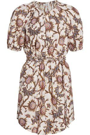 A.L.C. Women Skirts & Dresses - Women's Adelaide Sunflower Puff-Sleeve T-Shirt Dress - Light Buttercream - Size 8