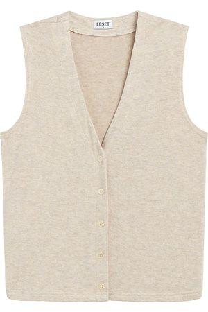 Leset Women Gilets - Women's Lori Button-Up Vest - Melange - Size XL