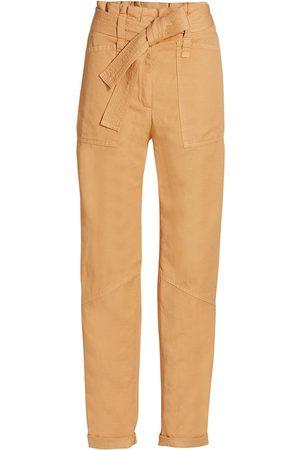 A.L.C. Women Pants - Women's Cobin Paperbag Pants - Light Maize - Size 12
