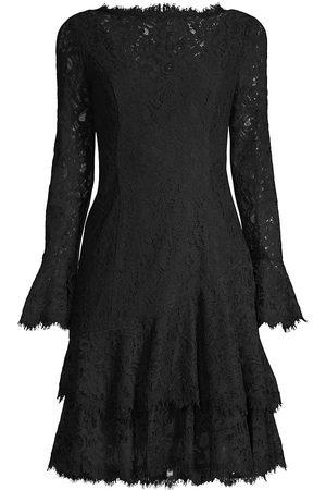 Shani Women's Tiered Flounce Lace Dress - - Size 8