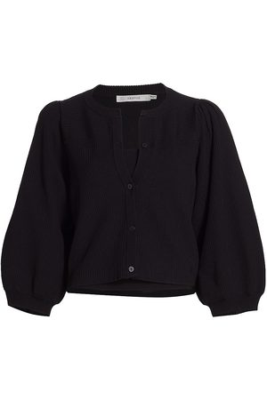 Gestuz Women's Puff-Sleeve Knit Cardigan - - Size XL
