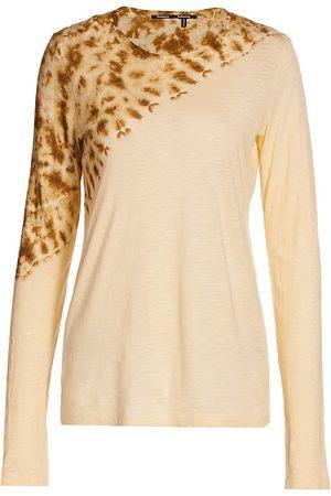 Proenza Schouler Women Long sleeves - Women's Tie-Dye Long Sleeve Top - Ecru Tie Dye - Size Small