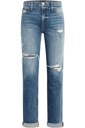Joes Jeans Women's The Scout Distressed Double Roll Jeans - Remix - Size 27
