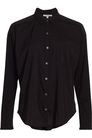 Splendid Women Sports T-shirts - Women's Paige Button-Up Shirt - - Size Medium