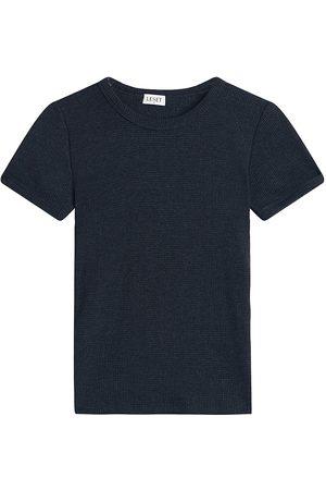 Leset Women's Willow Waffle-Knit T-Shirt - Charcoal - Size Medium