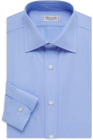 Charvet Men's Solid Poplin Dress Shirt - - Size 16.5