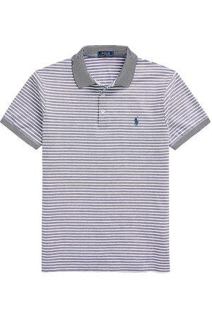 Polo Ralph Lauren Men Polo Shirts - Men's Stretch Oxford Mesh Striped Polo Shirt - Fresh Water - Size XXL