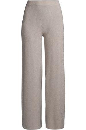 D.EXTERIOR Women Pants - Women's Micro Stripe Lurex Pants - Resin - Size Medium