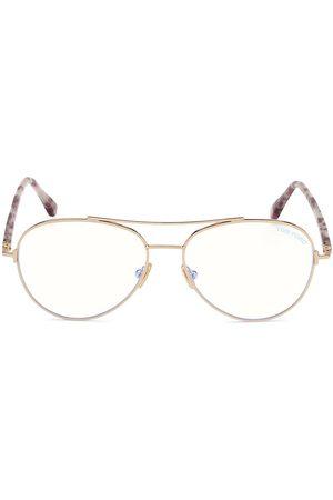 Tom Ford Women Aviators - Women's 55MM Block Aviator Optical Glasses