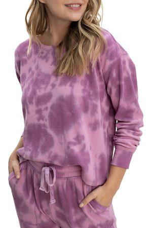 Splendid Women Sports Hoodies - Women's Cloud Tie Dye Pullover - Mauve - Size XS