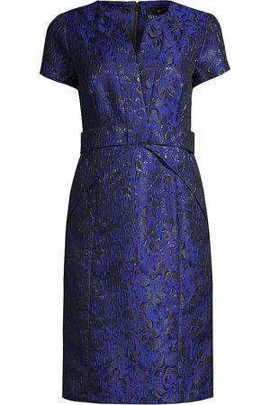 Shani Women's Jaquard Bow Sheath Dress - - Size 12