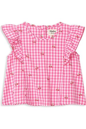 Hatley Baby Blouses - Baby Girl's Cherry Bomb Ruffle Gingham Blouse - - Size 6 Months