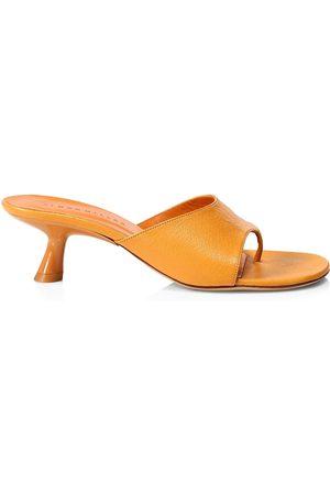 SIMON MILLER Women's Bil Leather Thong Sandals - Papaya - Size 7